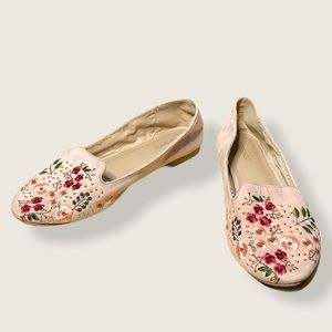 TopShop Floral Embroidered Loafers Size 38